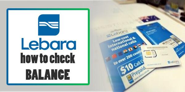 how to check lebara balance