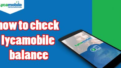 how to check lycamobile balance
