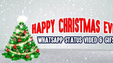 Happy Christmas Eve WhatsApp Status Video & GIFs