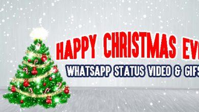 Happy Christmas Eve WhatsApp Status Video & GIFs