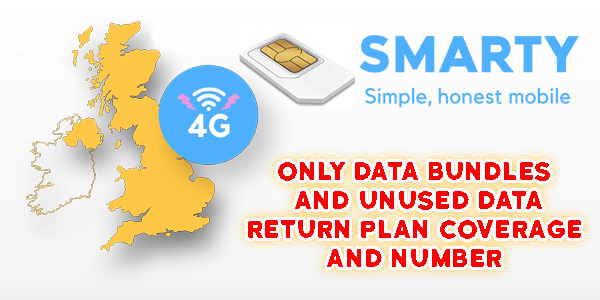 Smarty Sim Only Data Bundles And Unused Data Return Plan Coverage and Number