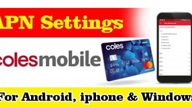 Coles Mobile APN Settings - For Android, iPhone, BlackBerry, And Windows