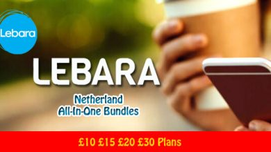 Lebara Mobile Netherland All-In-One Bundles – £10 £15 £20 £30 Plans