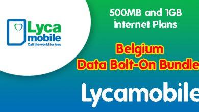Lycamobile Belgium Data Bolt-On Bundles