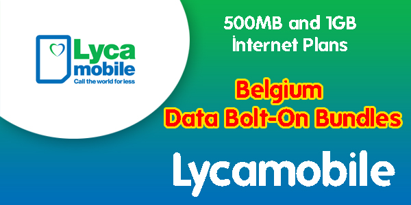 Lycamobile Belgium Data Bolt-On Bundles