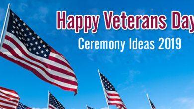 Happy Veterans Day Ceremony Ideas 2019