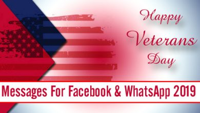 Happy Veterans Day Messages For Facebook & WhatsApp 2019
