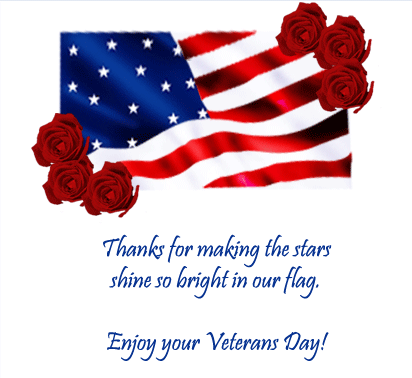 Happy Veterans Day tow colour card (2)
